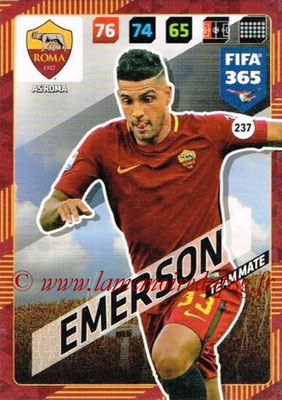 2017-18 - Panini FIFA 365 Cards - N° 237 - EMERSON (AS Roma)