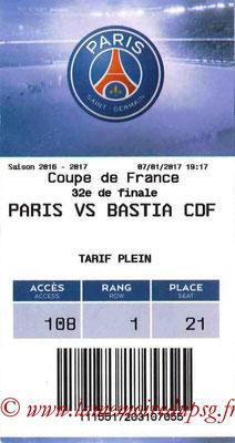 Tickets  PSG-Bastia  2016-17