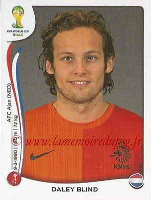 2014 - Panini FIFA World Cup Brazil Stickers - N° 134 - Daley BLIND (Pays-Bas)