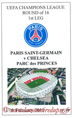Programmes pirates  PSG-Chelsea  2014-15