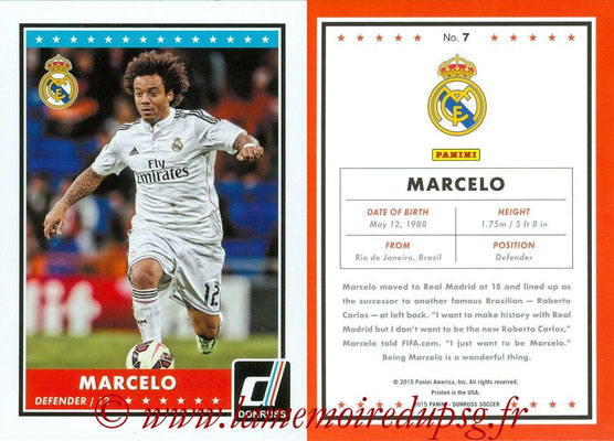 2015 - Panini Donruss Soccer - N° 007 - MARCELO (Real Madrid CF)