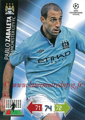 2012-13 - Adrenalyn XL champions League N° 122 - Pablo ZABALETA (Manchester City FC)