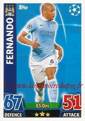 2015-16 - Topps UEFA Champions League Match Attax - N° 045 - FERNANDO (Manchester City FC)