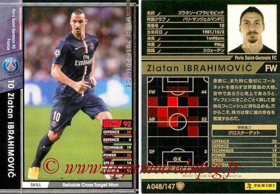 2014-15 - WCCF - N° A048 - Zlatan IBRAHIMOVIC (Paris Saint-Germain)