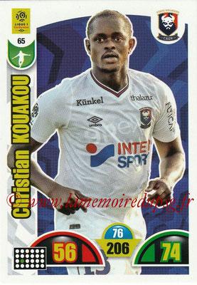 2018-19 - Panini Adrenalyn XL Ligue 1 - N° 065 - Christian KOUAKOU (Caen)