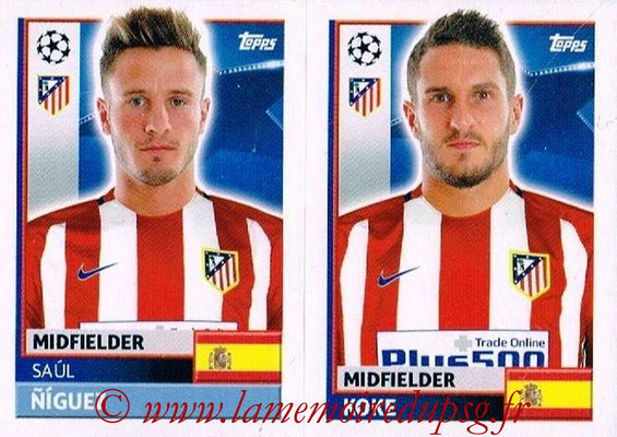 2016-17 - Topps UEFA Champions League Stickers - N° ATL 12-13 - KOKE + Saul NIGUEZ (Club Atletico de Madrid)