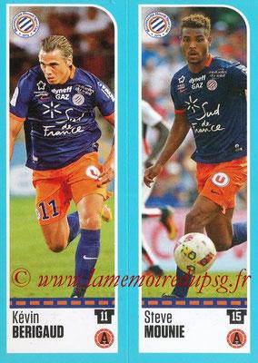 2016-17 - Panini Ligue 1 Stickers - N° 522 + 523 - Kévin BERIGAUD + Steve MOUNIE (Montpellier)