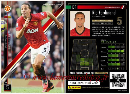 Panini Football League 2013 - PFL04 - N° 059 - Rio FERDINAND (Manchester United)