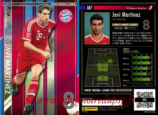 Panini Football League 2014 - PFL06 - N° 164 - Javi MARTINEZ (FC Bayern Munich) (Super MF)