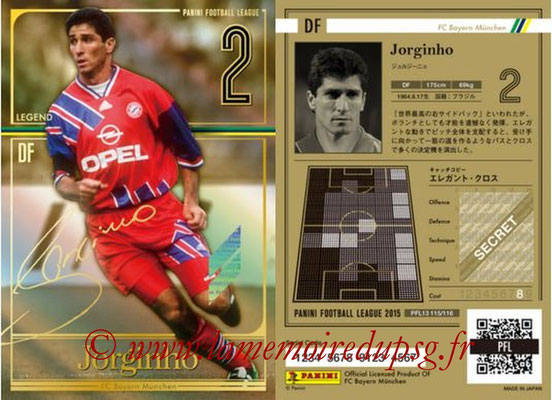 Panini Football League 2015 - PFL13 - N° 115 - JORGINHO (FC Bayern Munich) (Legend)