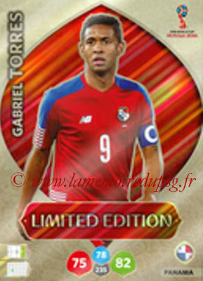 2018 - Panini FIFA World Cup Russia Adrenalyn XL - N° LE-GT - Gabriel TORRES (Panama) (Limited Edition)