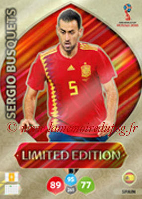2018 - Panini FIFA World Cup Russia Adrenalyn XL - N° LE-SB - Sergio BUSQUETS (Espagne) (Limited Edition)
