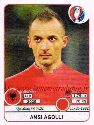 Panini Euro 2016 Stickers - N° 074 - Ansi AGOLLI (Albanie)