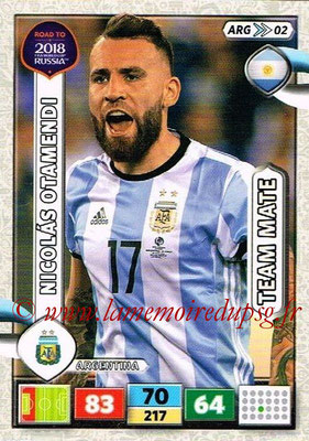 2018 - Panini Road to FIFA World Cup Russia Adrenalyn XL - N° ARG02 - Nicolas OTAMENDI (Argentine