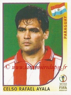 2002 - Panini FIFA World Cup Stickers - N° 138 - Celso Rafael AYALA (Paraguay)