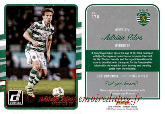 2016 - Panini Donruss Cards - N° 170 - Adrien SILVA (Sporting CP)