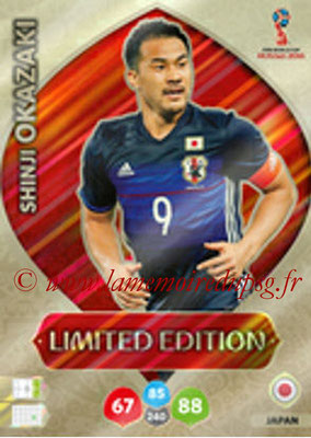 2018 - Panini FIFA World Cup Russia Adrenalyn XL - N° LE-SO - Shinji OKAZAKI (Japon) (Limited Edition)