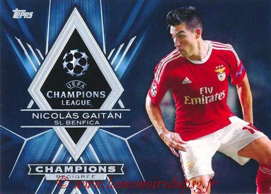 2015-16 - Topps UEFA Champions League Showcase Soccer - N° CP-NG - Nicolas GAITAN (SL Benfica) (Champions Pedigree)