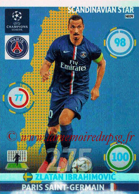 2014-15 - Adrenalyn XL champions League N° NE09 - Zlatan IBRAHIMOVIC (Scandinavian Star) (Nordic edition)