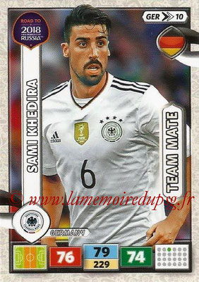 2018 - Panini Road to FIFA World Cup Russia Adrenalyn XL - N° GER10 - Sami KHERIDA (Allemagne)