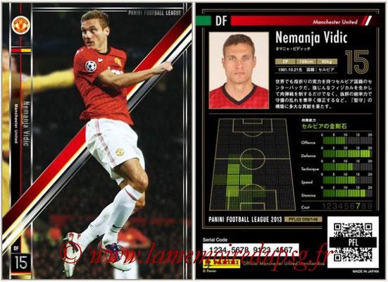 Panini Football League 2013 - PFL02 - N° 059 - Nemanja Vidic ( Manchester United  )