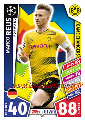 2017-18 - Topps UEFA Champions League Match Attax - N° GC05 - Marco REUS (Borussia Dortmund) (Game Changers)