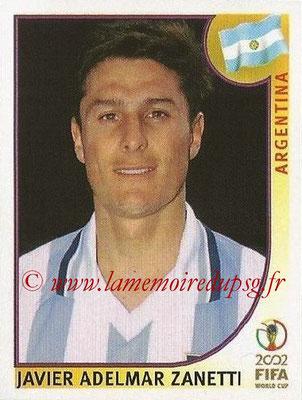 2002 - Panini FIFA World Cup Stickers - N° 392 - Javier Adelmar ZANETTI (Argentine)