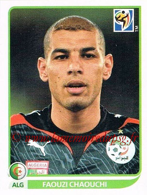 2010 - Panini FIFA World Cup South Africa Stickers - N° 222 - Faouzi CHAOUCHI (Algérie)