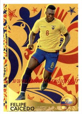Panini Copa America Centenario USA 2016 Stickers - N° 414 - Felioe CAICEDO (Equateur) (En action)