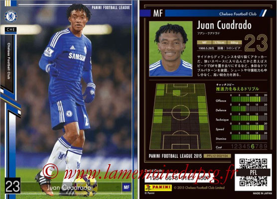 Panini Football League 2015 - PFL12 - N° 052 - Juan CUADRADO (Chelsea FC)