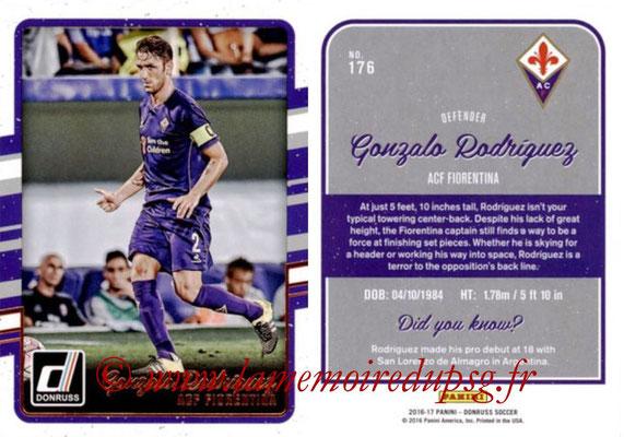 2016 - Panini Donruss Cards - N° 176 - Gonzalo RODRIGUEZ (ACF Fiorentina)