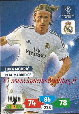 2013-14 - Adrenalyn XL champions League N° 240 - Luka MODRIC (Real Madrid CF)