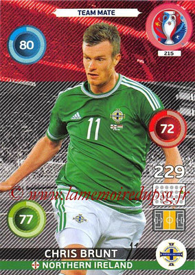 Panini Euro 2016 Cards - N° 215 - Chris BRUNT (Irlande du Nord)