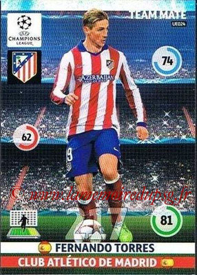 2014-15 - Adrenalyn XL champions League Update edition N° UE024 - Fernando TORRES (Atletico Madrid)