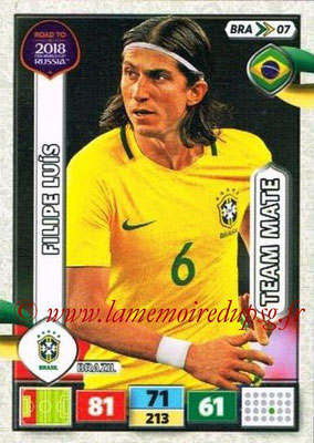 2018 - Panini Road to FIFA World Cup Russia Adrenalyn XL - N° BRA07 - Filipe LUIS (Brésil)