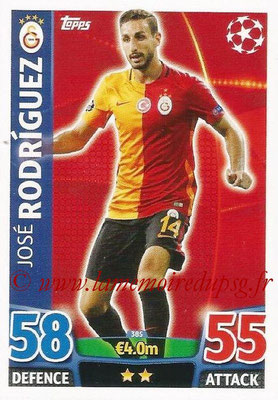 2015-16 - Topps UEFA Champions League Match Attax - N° 385 - José RODRIGUEZ (Galatasaray AS)