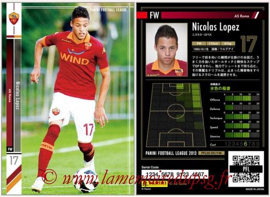 Panini Football League 2013 - PFL02 - N° 031 - Nicolas Lopez ( AS Roma )