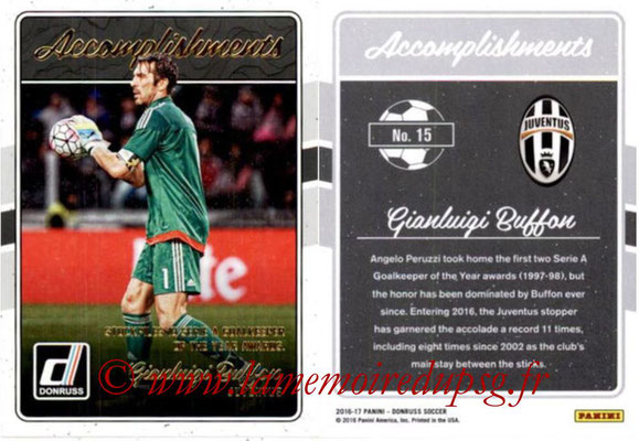 2016 - Panini Donruss Cards - N° A15 - Gianluigi BUFFON (Juventus FC) (Accomplishments)