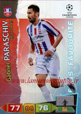 2011-12 - Panini Champions League Cards - N° 318 - Gabriel PARASCHIV (FC Otelul Galati) (Star Player)