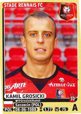 2015-16 - Panini Ligue 1 Stickers - N° 404 - Kamil GROSICKI (Stade Rennais FC)