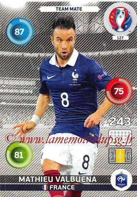 Panini Euro 2016 Cards - N° 127 - Mathieu VALBUENA (France)