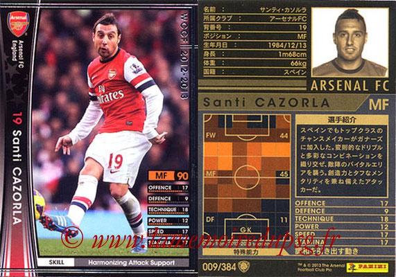 2012-13 - WCCF - N° 009 - Santi CAZORLA (Arsenal FC)
