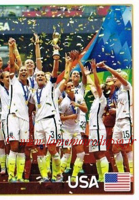 2015-16 - Panini FIFA 365 Stickers - N° 070 - Etats-Unis 2 (Winner) (FIFA Women's World Cup)