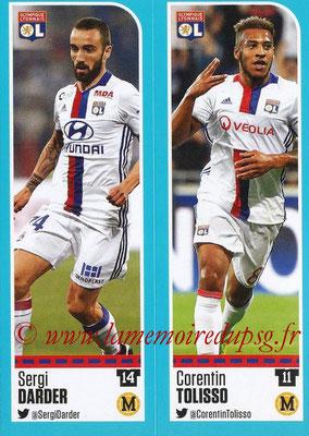 2016-17 - Panini Ligue 1 Stickers - N° 352 + 353 - Sergi DARDER + Corentin TOLISSO (Lyon)