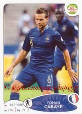 N° 098 - Yohan CABAYE (Jan 2014-15, PSG > 2014, France)
