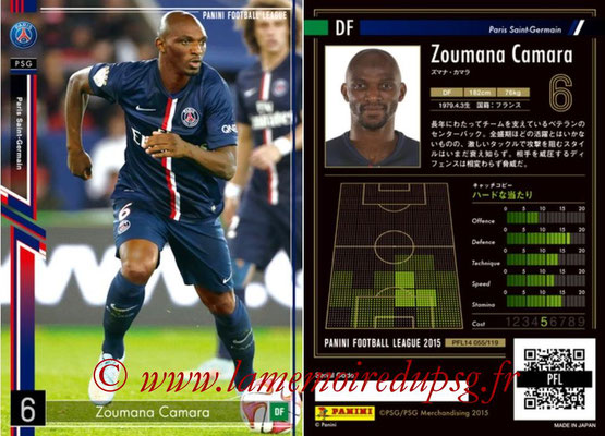 Panini Football League 2015 - PFL14 - N° 055 - Zoumana CAMARA (Paris Saint-Germain)