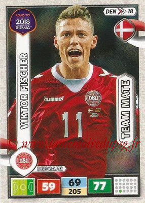 2018 - Panini Road to FIFA World Cup Russia Adrenalyn XL - N° DEN18 - Viktor FISCHER (Danemark)