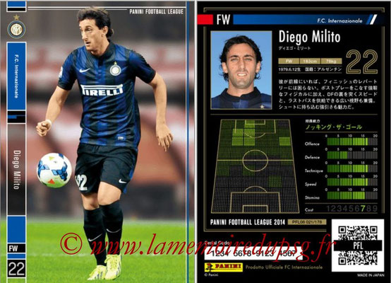 Panini Football League 2014 - PFL08 - N° 021 - Diego MILITO (Inter)