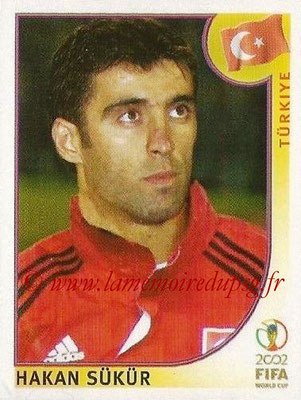 2002 - Panini FIFA World Cup Stickers - N° 204 - Hakan SUKUR (Turquie)