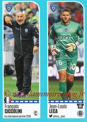 2016-17 - Panini Ligue 1 Stickers - N° 050 + 051 - François CICCOLINI + Jean-Louis LECA (Bastia)